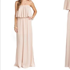 Maxi dress- dusty blush crisp. Size small.